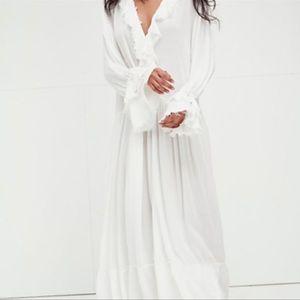 Free People Sweet Darlin Maxi Dress Ivory Sz S NEW